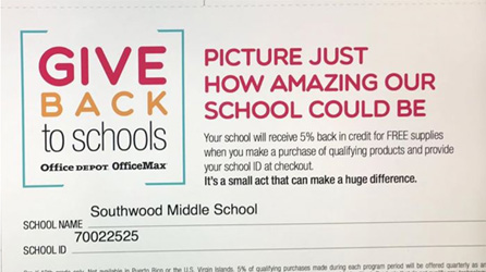 Give Back To Southwood Middle School When Shopping At Office Depot And  OfficeMax!